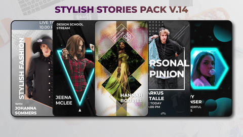 Stylish Stories Pack v 14 After Effects Template