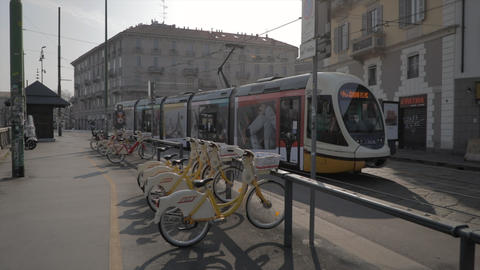 5 Streetcar Public Transportation In Milan Italy During Coronavirus Emergency Live Action