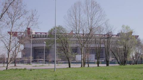 4 Exterior View Of San Siro Stadium In Milan Italy Live Action
