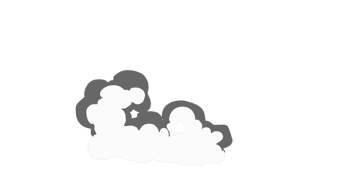 Smoke Elements #10 2D Cartoon FX HD (animation) Animation