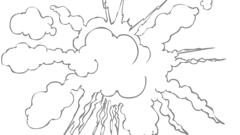 Smoke Elements #02 2D Cartoon FX HD (animation) Animation