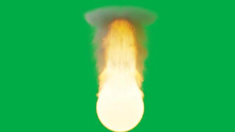 Fireball animation on green background Animation