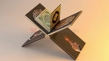 Holy Quran Book and Reading Table 3D Model