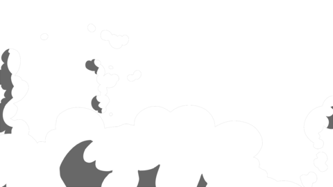 Smoke Elements #17 2D Cartoon FX HD (animation) Animation