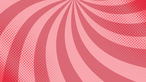 Pop art background with polka dots and shapes GIF