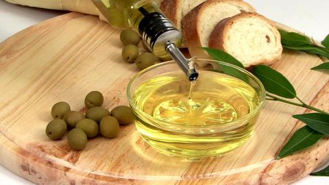 Olive Oil Display Footage
