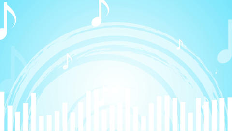 Light blue music abstract video animation Animation