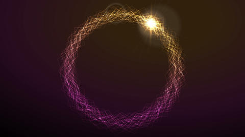Electric neon effect iridescent flowing ring video animation Animation