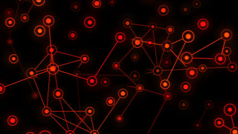 Connected Objects, Information Exchange Animation - Loop Red GIF 動畫