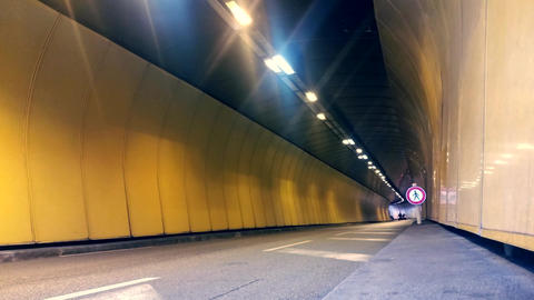 Vehicles In The Tunnel Of Monaco Footage