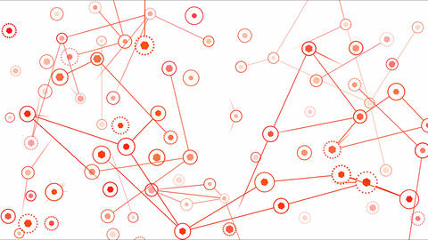 Connected Objects, Information Exchange Animation - Loop Red Animation