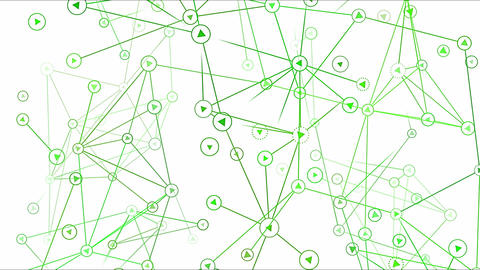 Connected Objects, Information Exchange Animation - Loop Green Animation