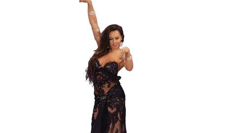 Belly dancer dancing on transparent background, alpha channel Footage