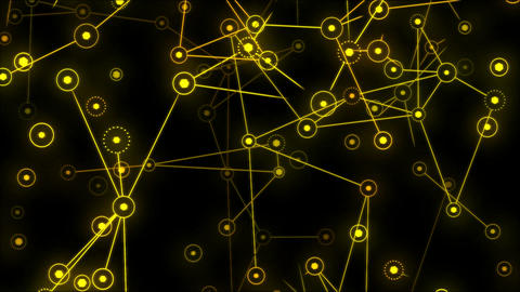 Connected Objects, Information Exchange Animation - Loop Yellow Animation