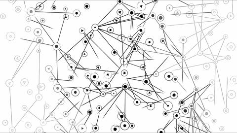 Connected Objects, Information Exchange Animation - Loop Monochrome Animation
