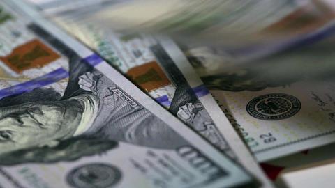 Franklin portrait on banknote Footage
