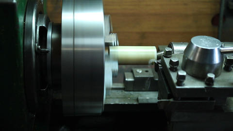 Milling detail on metal cutting machine tool Footage