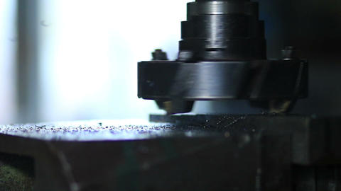 Rotating head with drilling machine bits and tools Footage
