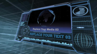Sci-fi Screens Version 2 Plantilla de After Effects