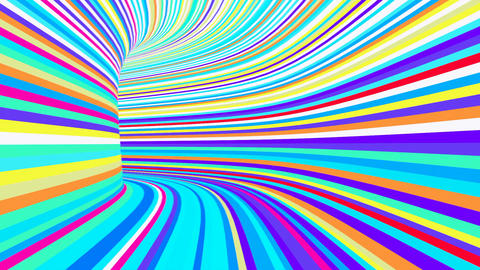 Colorful tunnel Animation