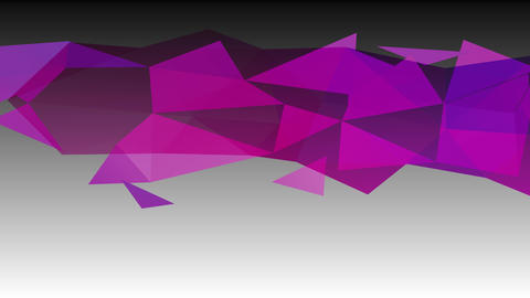 dark purple understanding polygon figure lying on a contrasting white surface with 3d three height Animation