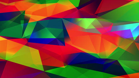 colourful numeric mosaic of shape and polygon geometric conceptual forms forming a 3d blaze effect Animation