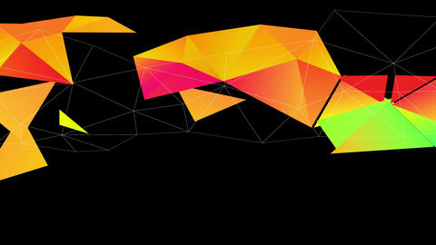 3d understanding science crafted with shiny triangles creating geometrical forms drawn across a Animation