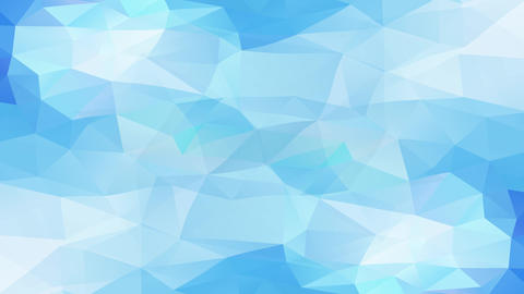 beautiful abstract mosaic of triangles with light and dark blue luminance creating reliefs and 3d Animation