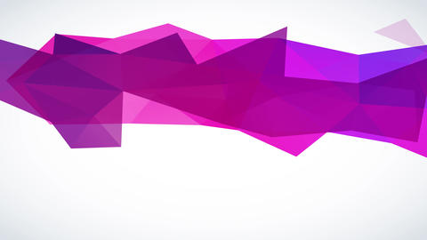 dark purple conceptual polygon figure lying on a contrasting white surface with 3d triangle peaks Animation