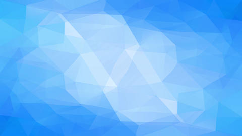 abstract triangle digital art made with 3d polygon forms creating a light blue steam effect Animation