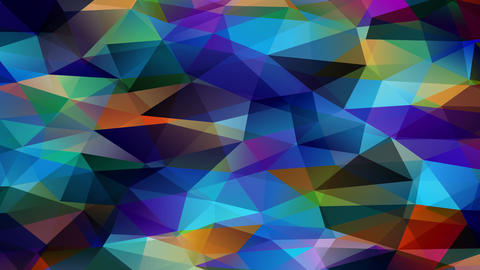 3d polygon design similar to tiny scale prisma pyramids forming a multicolor flow of geometrical Animation