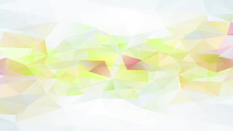 conceptual science with gentle multicolored triangles that look like geometrical parts of crop Animation