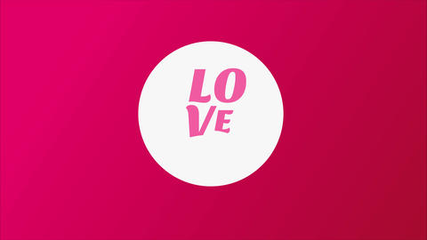 st valentines day greeting cardboard composed with a white disk with words written manipulation love Animation
