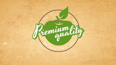 elderly classic with font over a green fruit indoor a round of an eco kind product Animation
