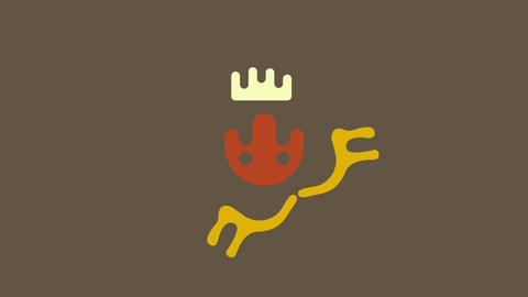 animation with various doodles appearing and forming figure similar to an animal first a crown then Animation