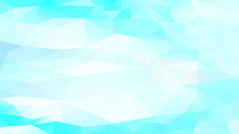 light blue and white geometric triangles creating 3d effect building diamond heads and reliefs Animation