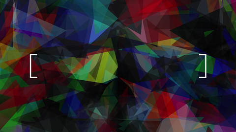 real abstract graphic image designed with transparent triangular fragments of many colors and sizes Animation