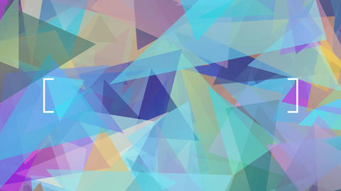 original abstract graphic image designed with translucent triangular fragments of many colors and Animation
