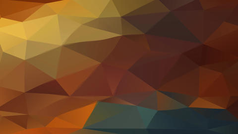 abstract figure with geometric pattern made with hexagons and pyramids using different warm color Animation