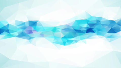abstract geometric triangles with shinny white and blue tones and 3d effect resembling a frozen Animation