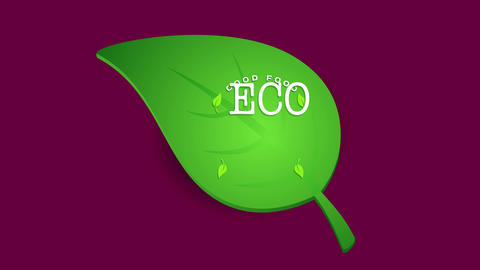 excellent eco friendly organic natural nourishment written and drawn on a green sprout as a Animation