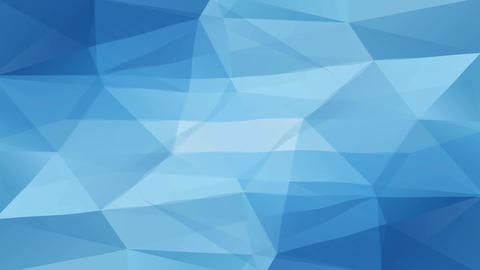 blue abstract geometric polygon creating ice like formations with 3d effect resembling a diamond Animation