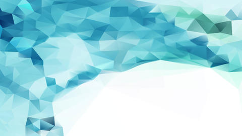 3d triangles pattern creating polygons resembling a frozen ocean moving like water surrounding a Animation