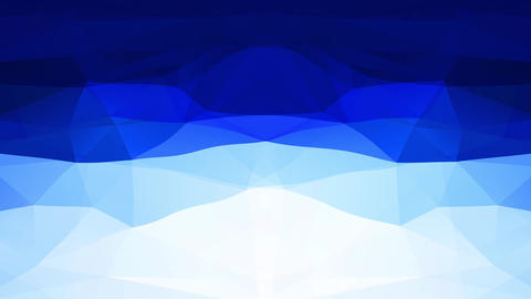 abstract concept with triangle polygon shapes like a deep blue frozen ocean surrounding an iceberg Animation