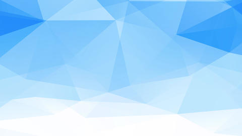 abstract jumbled geometrical figure composed of blue and white three template forming 3d polygons Animation