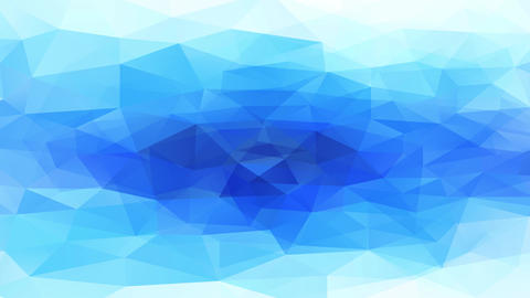 conceptual triangles with 3d reliefs resembling a natural depth blue crystal pool surrounded by Animation