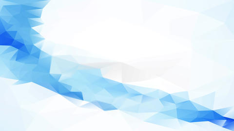 website background layout with long blue abstract 3d wave made with geometric forms between clear Animation
