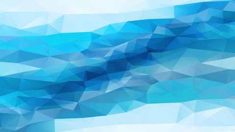 abstraction conceptual scene with blue geometrical triangles making peaks similar towards jewel Animation