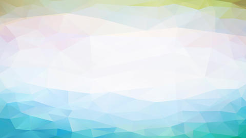 geometric forms grouped in horizontal stripes moving next to a white strip in the middle coming Animation
