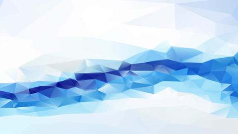 3d abstract tech background horizontal layer made with triangles creating polygon pattern with Animation